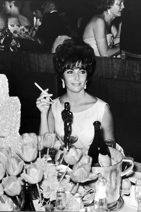 At the 1961 Academy Awards.<br />