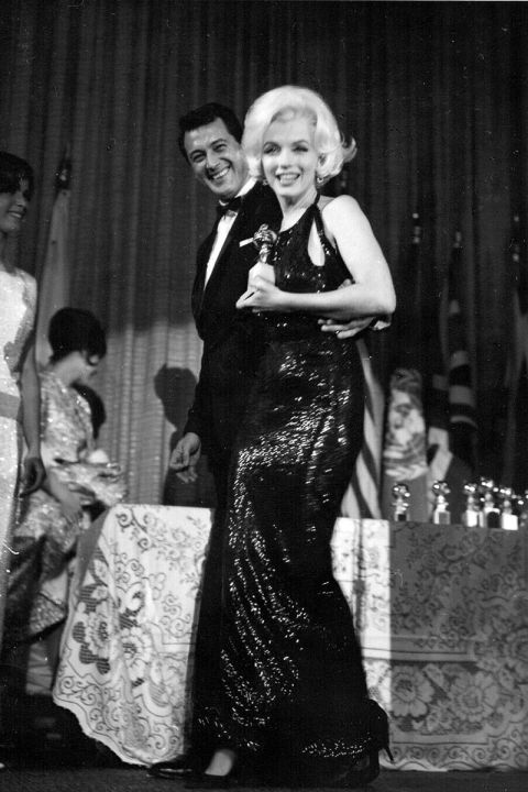 At the 1962 Golden Globes.<br />
