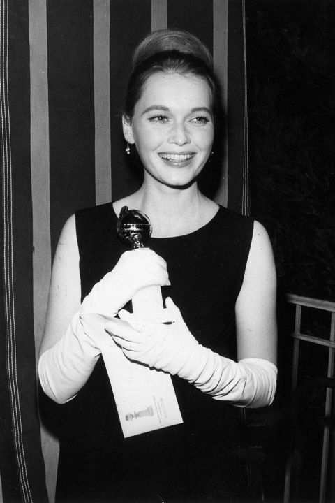 At the 1965 Golden Globes.<br />