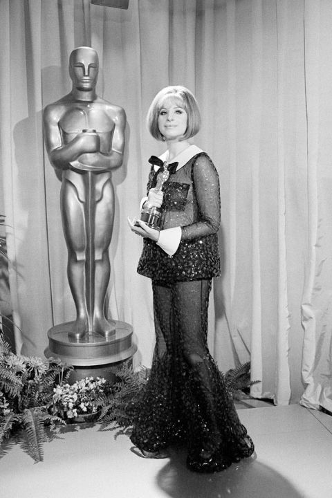 At the 1969 Academy Awards.<br />