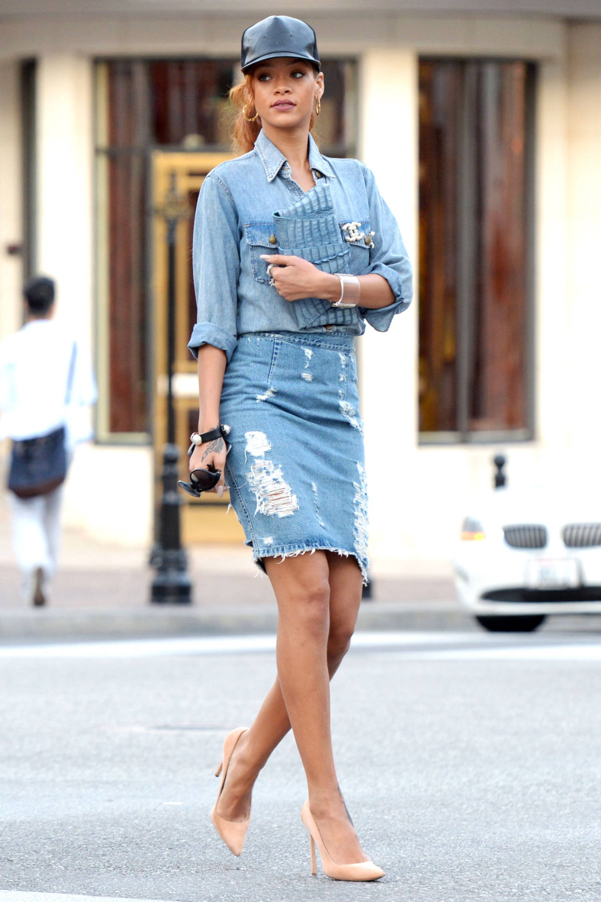 Denim Trends - Denim Pencil Skirt