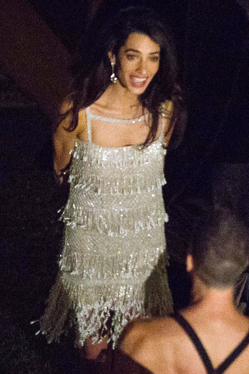 George clooney wedding pictures amal alamuddin and for 2nd wedding dress for reception