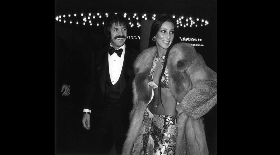 At the 1973 Golden Globes.<br />