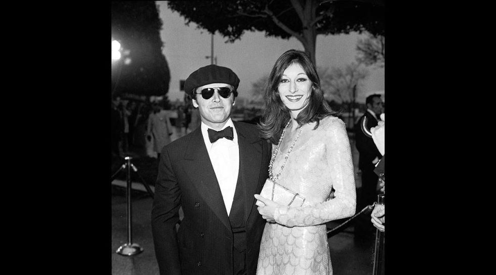 At the 1976 Academy Awards.<br />