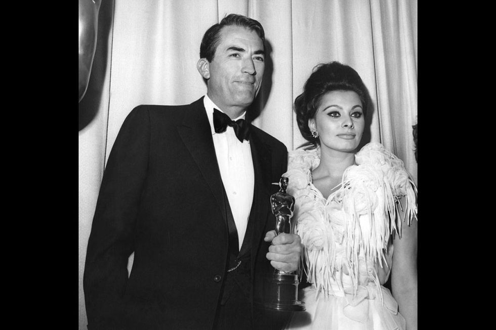 At the 1963 Academy Awards.<br />