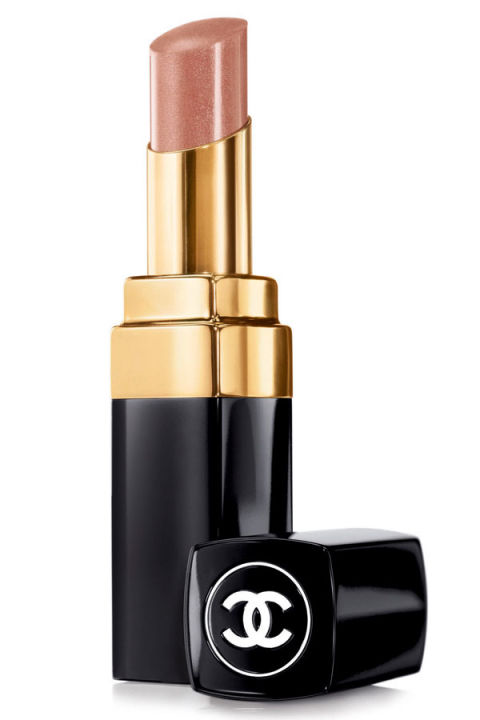 """This is a great neutral brown with a natural, smooth matte finish. The color is just right—not too pale, and good for day or night, especially those times when you're rocking a dramatic eye. Your lips won't steal the show, but they definitely won't be overlooked."" — Jeannia Robinette Chanel Rouge Coco Shine in Canotier, $32.50, chanel.com."