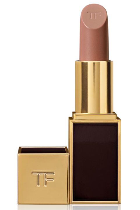 """This shade has the perfect amount and tone of beige for a nude lip that won't wash you out. I like to apply the color with a brush then tap with my index finger to blend into the skin so that it doesn't have a heavy 'lipstick' quality."" — Stevie Huynh Tom Ford Lip Color in Sable Smoke, $48, neimanmarcus.com."
