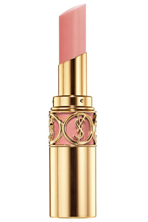 """Think of nude lipstick the same way you'd think about your foundation. To get the right color, consider your skin color, hair color, even eye color. For someone with a fairer complexion, a nude that's too beige-y will appear yellow; instead, pick a nude that's in the pale pink family like this YSL shade. For medium tones, I would use a deeper beige to rose nude. If you want the truest shade of the lipstick to shine through, neutralize your own lip color first by applying a tinted moisturizer or foundation."" — Jeanine Lobell Yves Saint Laurent Rouge Volupté lipstick in Nude Beige, $34, yslbeautyus.com."