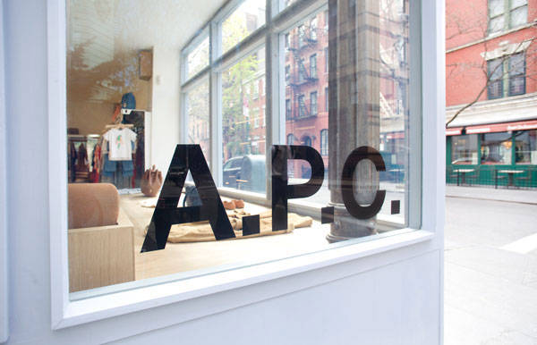a p c west village store inside a p c west village. Black Bedroom Furniture Sets. Home Design Ideas