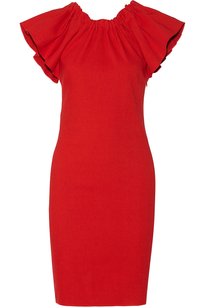Red Holiday Party Dresses 5