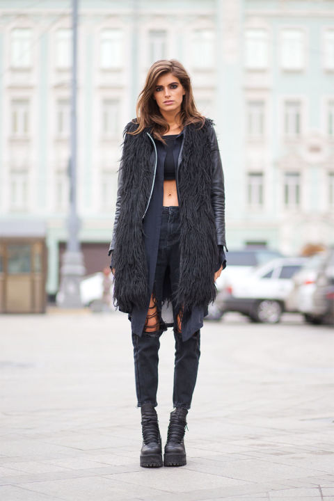Moscow Street Style Best Street Style Looks From Moscow Fashion Week