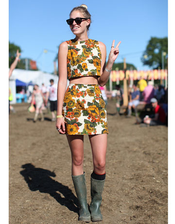 Glastonbury Music Festival Fashion Pictures Style Pictures From Glastonbury