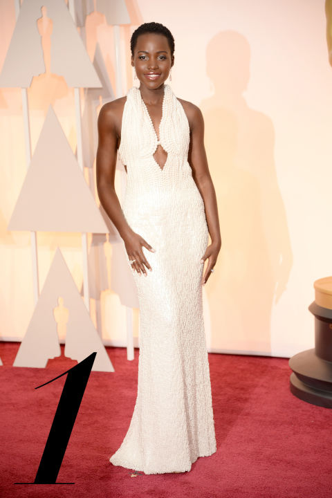 The uniqueness of Nyong'o's custom white Calvin Klein Collection gown—which featured 6,000 hand-sewn pearls, no less—will be remembered for decades to come.