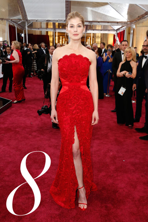 After an awards season of mixed reviews, Pike will be most remembered for her flawless crimson lace Givenchy moment at the show that matters most.