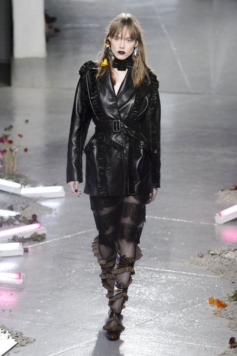 Designers took a gothic turn for fall with countless looks celebrating noir-laden glamour and a penchant for punk. Pictured: Rodarte