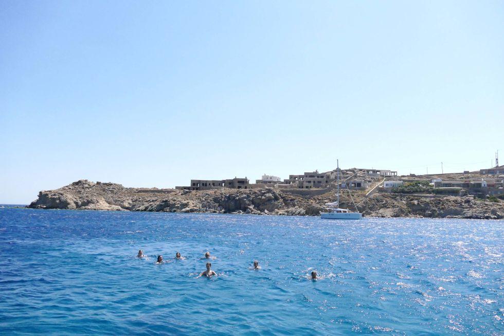A swim in the sea...