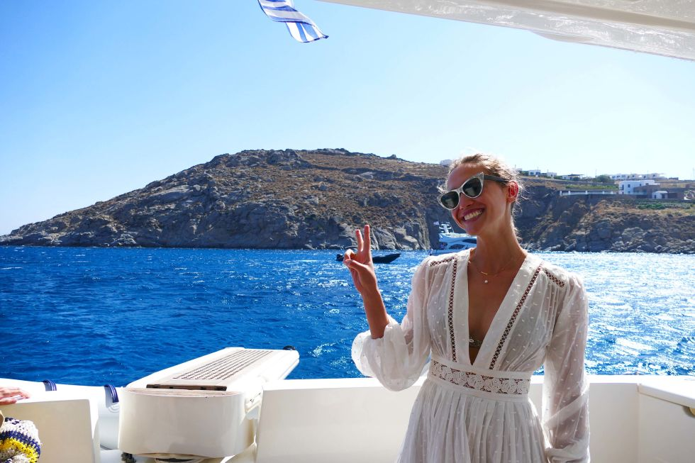 Laurel Pantin on a yacht cruise...