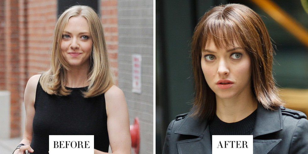 When:September 2016 What:Brunette wig Why we love it:Seyfried has been photographed around New York City sporting a brunette bob and bangs. She's filming a futuristic film calledANON, though, so there's a good chance this look is a wig.
