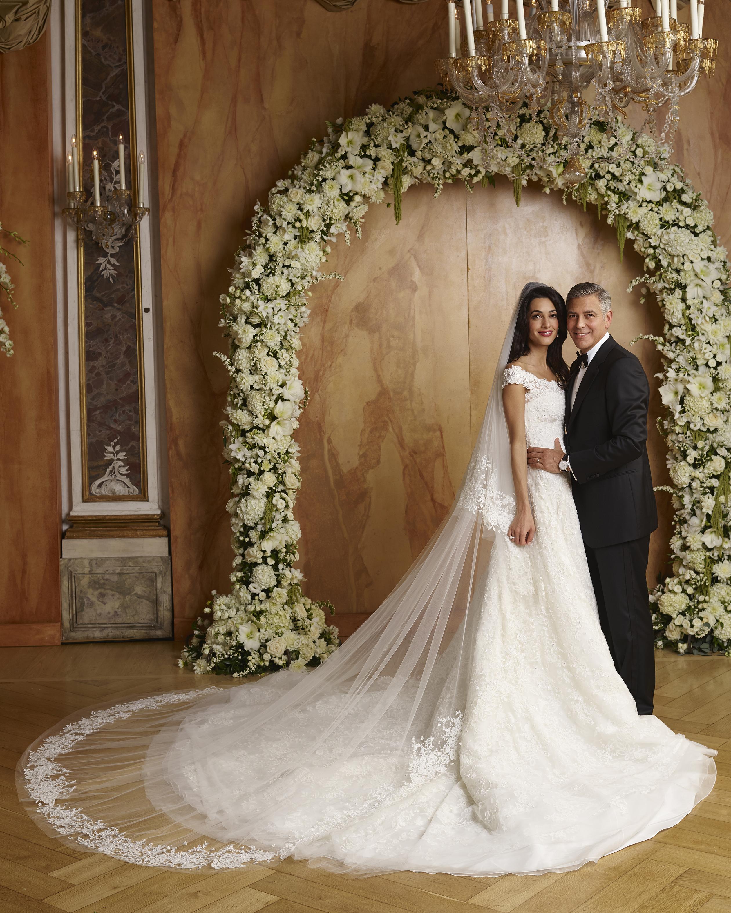 elegant celebrity wedding dresses