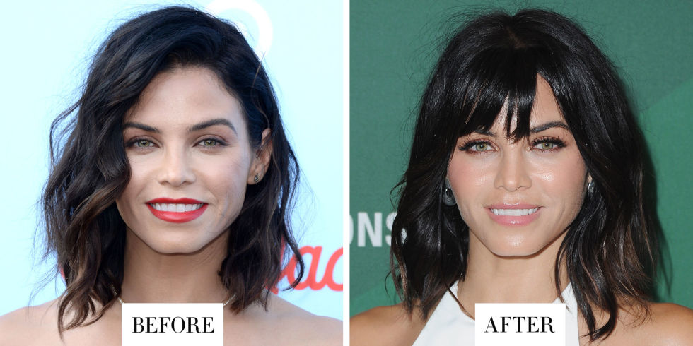 When:October 14, 2016 What: Choppy bangs Why we love it:Jenna Dewan Tatum knows what works for her: a short, shaggy bob in a dark raven hue. These new bangs she debuted on Instagramare a fresh riff on hertried-and-true theme, plus they accentuate her gorgeous bone structure.