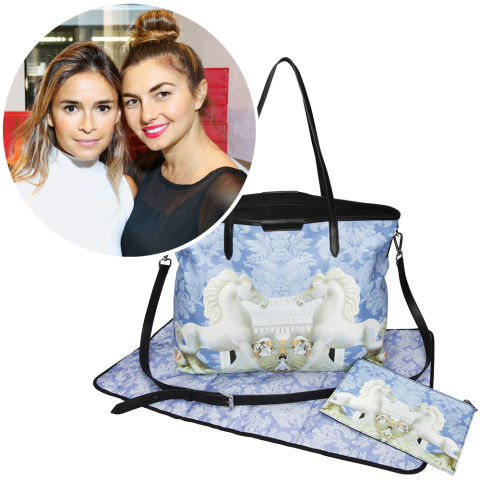 The Tot, Miroslava Duma and Nasiba Adilova's one-stop online shop for mothers, continues its domination of the fashionable-mom market, with bold-name collabs, including a Mary Katrantzou–designed diaper bag.Mary Katrantzou for The Tot diaper bag and pouch, $1,700, thetot.com.