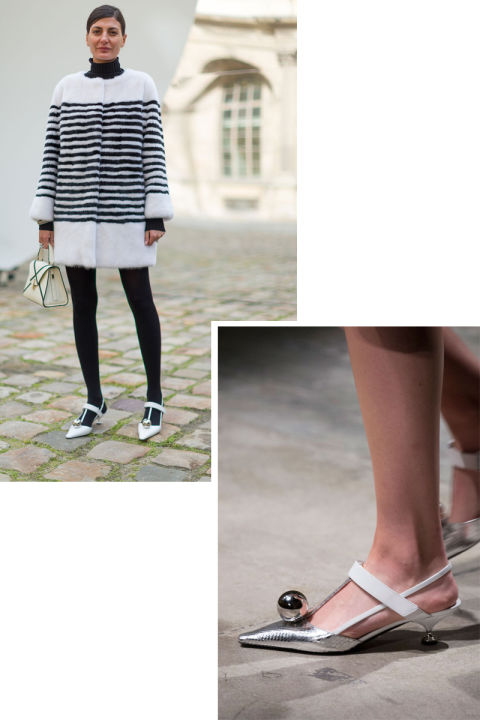 A quiet favorite was the mod Prada sling back which sleek and chic girls wore with minis and denim in equal favor.