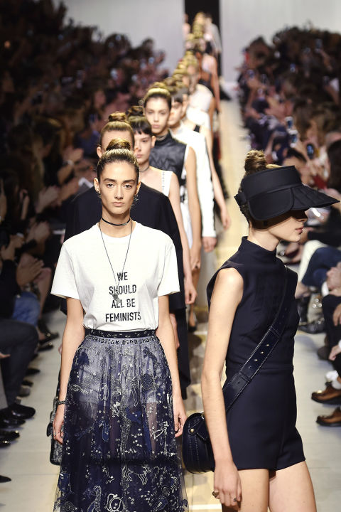 "In 1947, Christian Dior showed his inaugural collection, which Bazaar editor Carmel Snow famously dubbed the ""New Look."" This year, Dior is marking its 60th anniversary with another new look, as the debut collection by the French house's new artistic director, Maria Grazia Chiuri—the first woman in the role—hits stores."