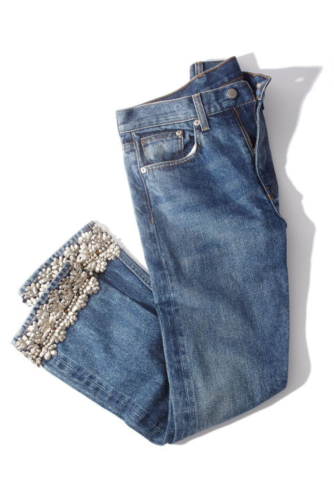 """A little sparkle goes a long way for the holidays, so these make a pretty present for your fashion-forward friend,"" says Merchandising Editor Dana Mendelowitz.Brock Collection jean, $840, shopBAZAAR.com."