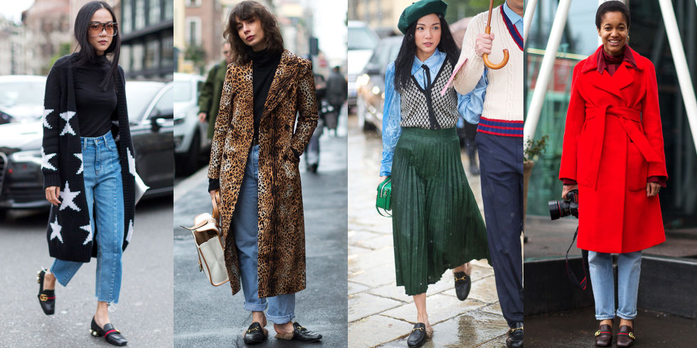 While the Gucci loafer is hardly a new style, the new pearl-embellished, fur lined, printed versions created under the keen eye of Alessandro Michele proved winners among the fashion girl set all year long—and show no signs of slowing down.