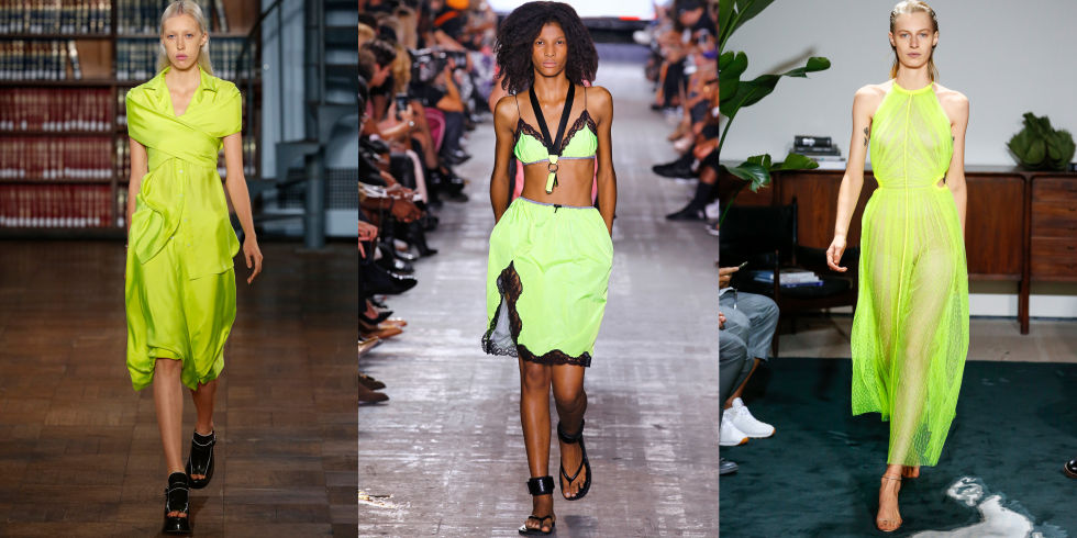 No shrinking violets here. For spring, designers were thinking highlighter- bright, sending out a parade of clothes in notice-me shades.Sies Marjan, Alexander Wang, and Jason Wu