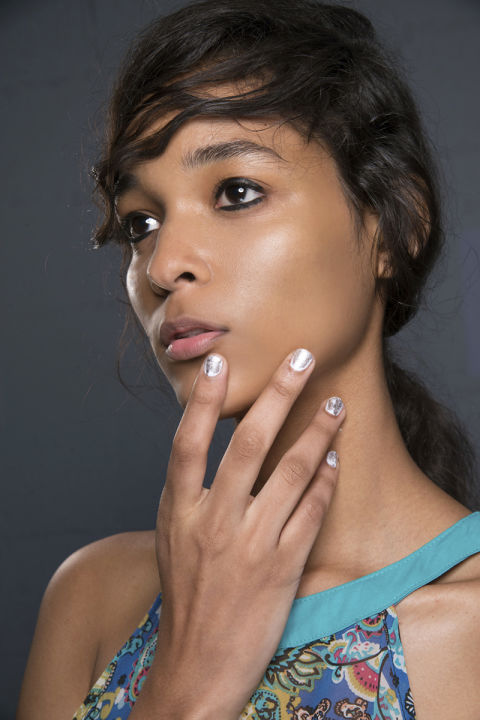 INSPIRED BY: Philip Lim Spring/Summer '17 WHY WE LOVE IT:When worn over a neutral lacquer, a rose-gold French, simple silver line, or textured 14-karat tip is a refined way to pull off a precious metal manicure. For the best transition from a winter white look, add a metallic overlay by brushing a platinum polish on top as seen at 3.1 Phillip Lim. The result: easy, elegant, and elevated.