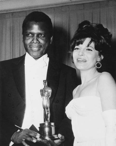 Sidney Poitier wins Oscar