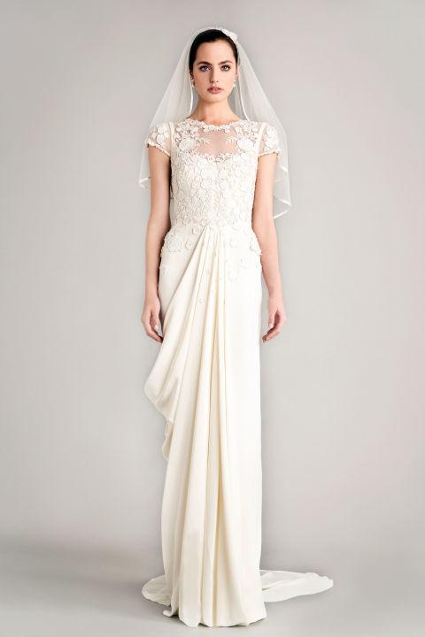 Column wedding dress